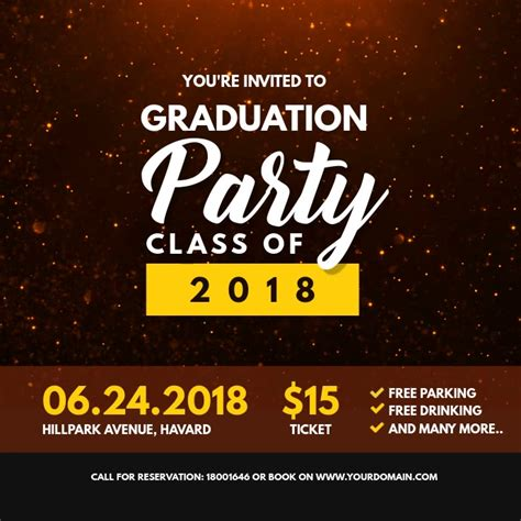 Graduation Party Invitation Card Template | PosterMyWall