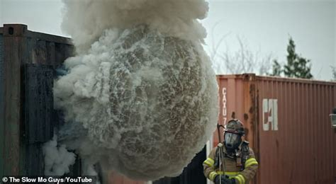 Slow-motion footage captures the deadly power of a