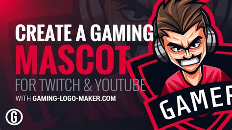 Create Your Gaming Mascot For Twitch Youtube Gaming Logo