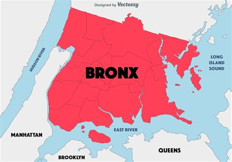 Abstract Background Of The Bronx Map - Download Free