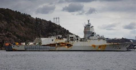 Norway's Ruined Frigate Is Afloat Again and It Doesn't