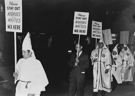 KKK members carrying placards, 1964 – History By Zim