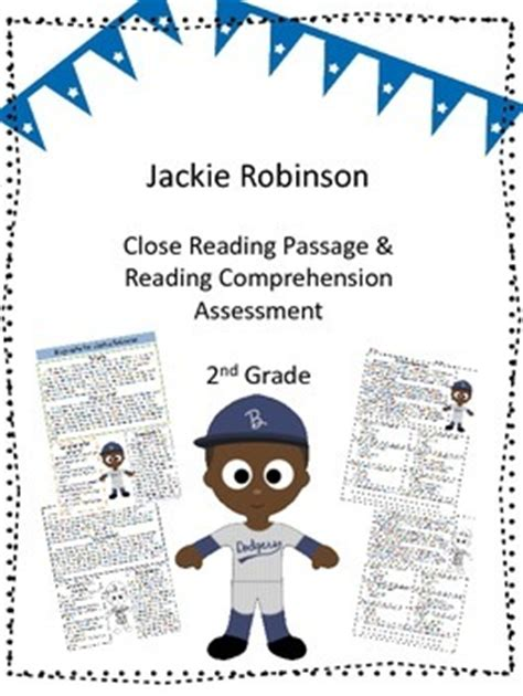 Jackie Robinson Close Reading Passage and Reading