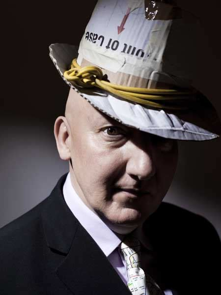 From the top: Master milliner Stephen Jones and his