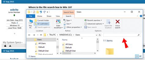 Where is the file search box in Win 10? - Windows 10 Forums