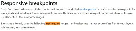 Bootstrap Media queries Css