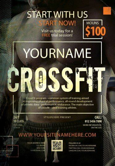 Crossfit PSD Flyer Template #8274 - Styleflyers