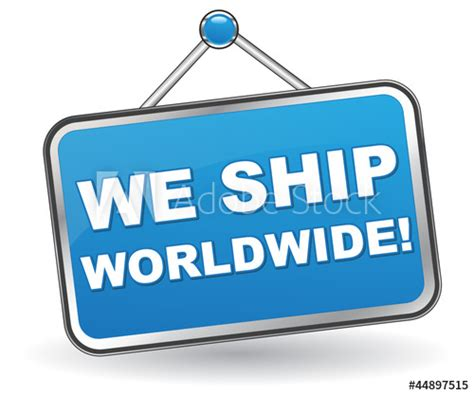 We ship worldwide – Tracking Support