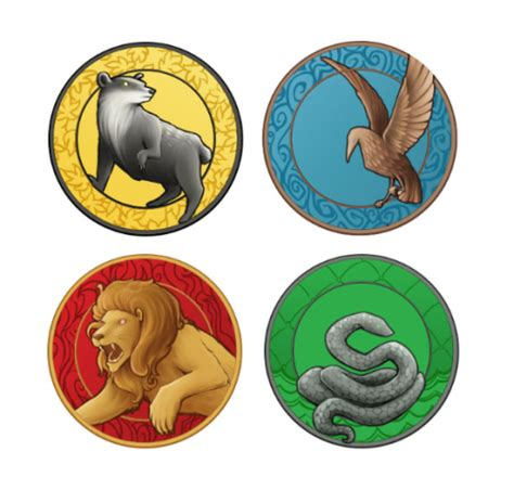 musicalwaffle: Harry Potter house buttons