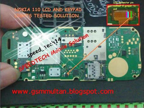 All latest hardware solution: nokia 110 lcd light solution